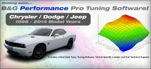 B & G Performance Custom Calibration Software for Dodge, Chrysler, Jeep