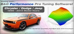B & G Performance Custom Calibration Software for Chrysler, Dodge, Jeep