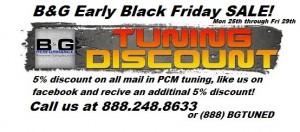 bg black Friday tuning discount